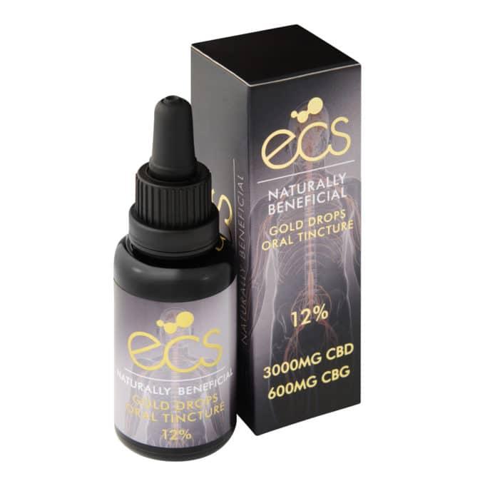 ECS gold CBD drops 12%