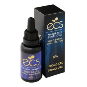 ECS gold CBD drops 6%