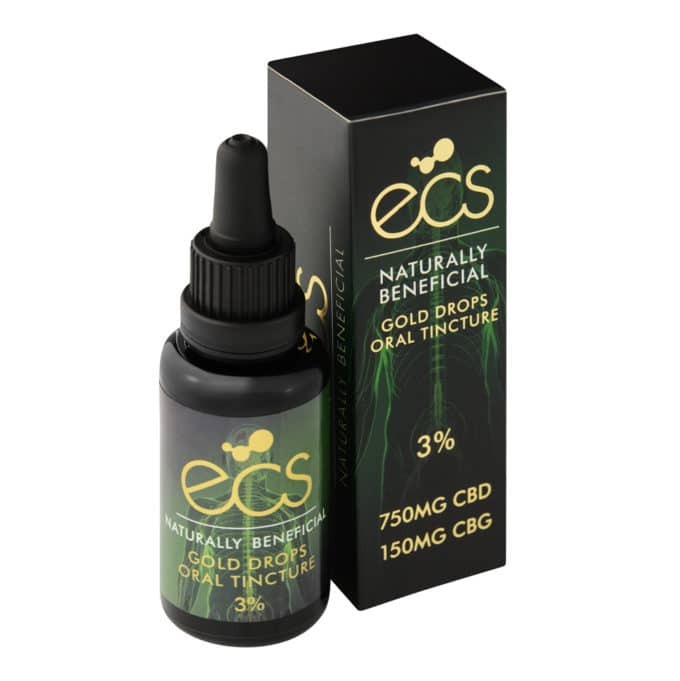 ECS gold CBD drops 3%
