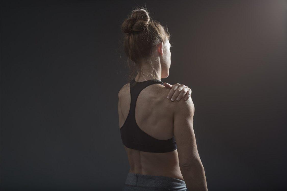 Back or shoulder injury on female athlete